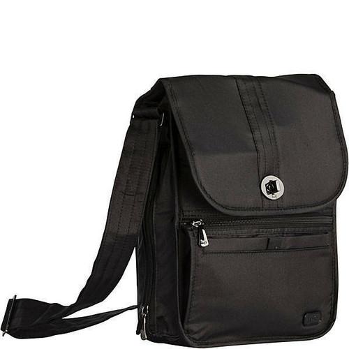 New Lug Travel MOPED w/  RFID Crossbody BLACK Pockets Galore Medium gift