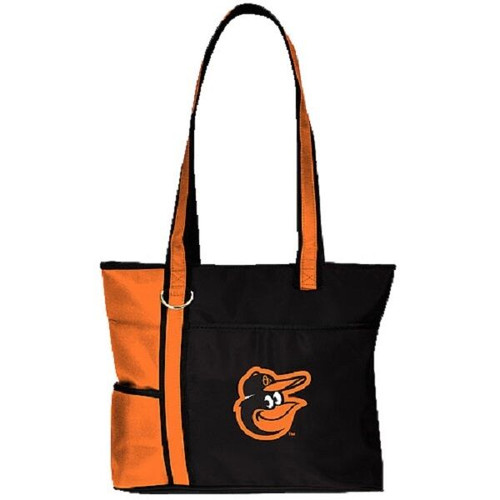 New MLB Carryall Gametime Tote Bag Purse Licensed BALTIMORE ORIOLES Embroidered