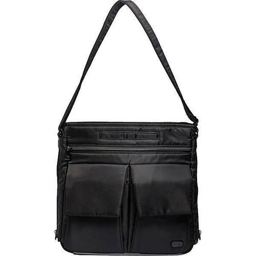 New Lug Travel HAPPY CAMPER  w/  RFID Crossbody BLACK Pockets Galore Medium gift