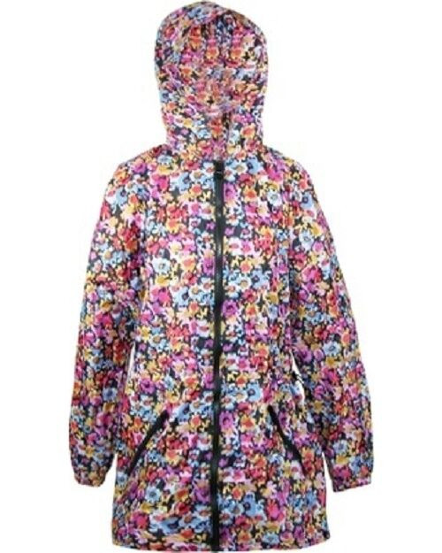 New Shed Rain Packable Anorak Jacket MAXINE FLORAL Lightweight Travel Small Med