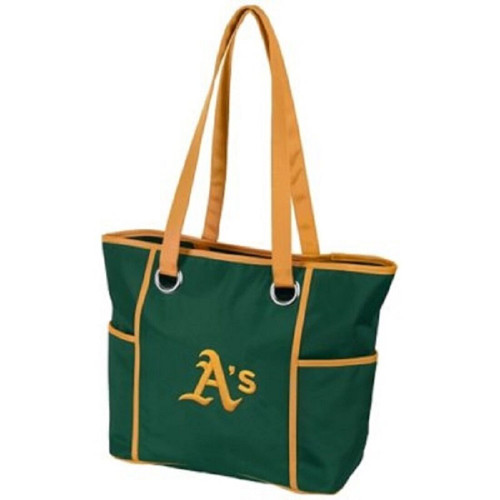 New MLB Carryall DELUXE Large Tote Bag Purse Licensed OAKLAND ATHLETICS A'S