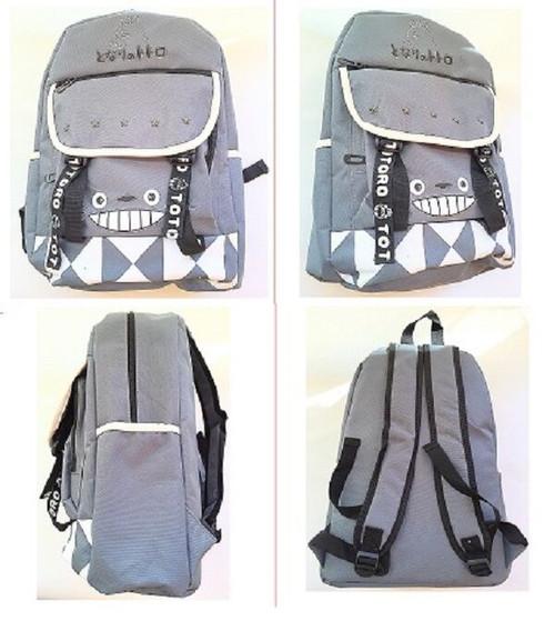 New My Neighbor TOTORO Gray Canvas Full Backpack School work Anime 60100 gift