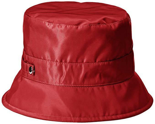 New Bucket Rain Hat Spring Summer Fall Travel Adult One Size Packable gift RED