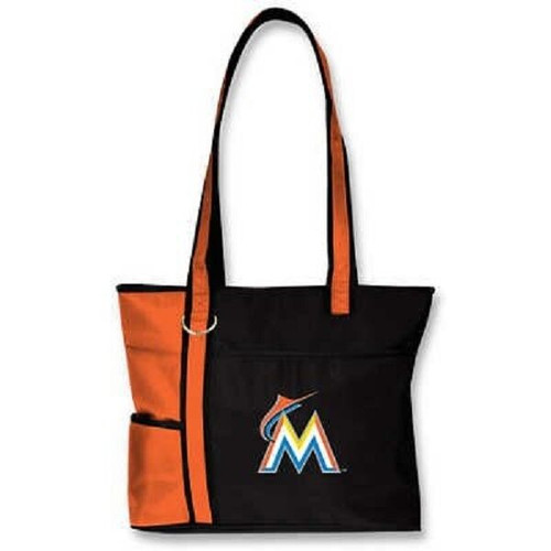 New MLB Carryall Gametime Tote Bag Purse Licensed MIAMI MARLINS Embroidered gift