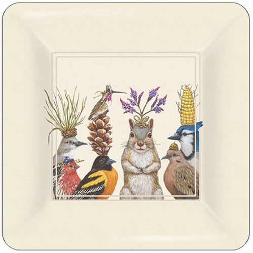 "New Vicki Sawyer 16 Appetizer Desert Paper Plates PARTY SNACKS Birds 7"" gift"