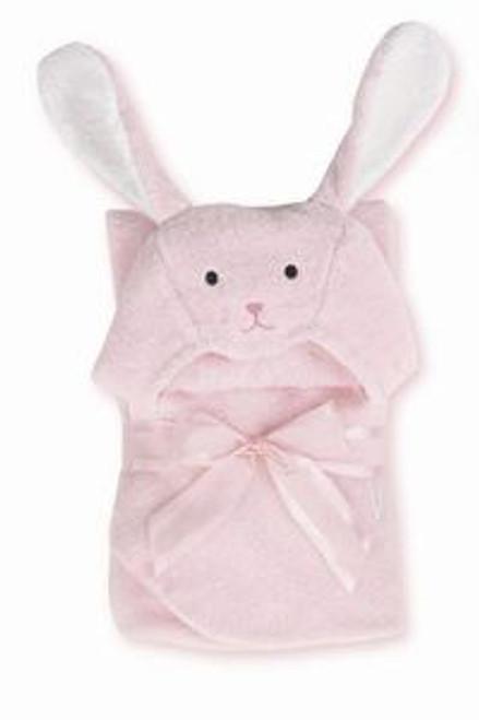 Bearington Baby BUNNY HUGS Rabbit Hooded Towel Pink