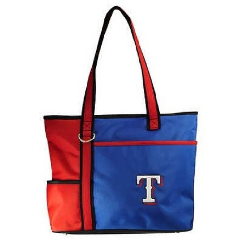 New MLB Carryall Gametime  Tote Bag Purse Licensed TEXAS RANGERS Embroiderd gift