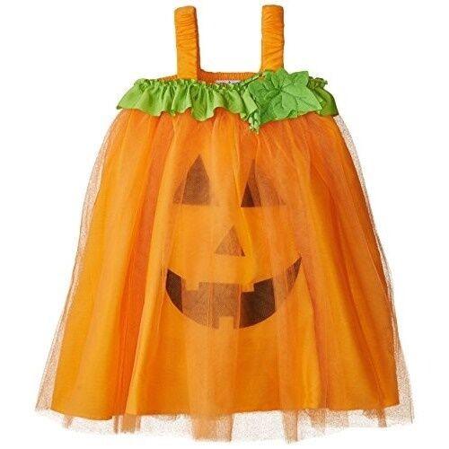 Neu Mud Pie Fall Halloween Kürbis Tüll Kleid Orange 12 Mos To 4t Mädchen Kostüm
