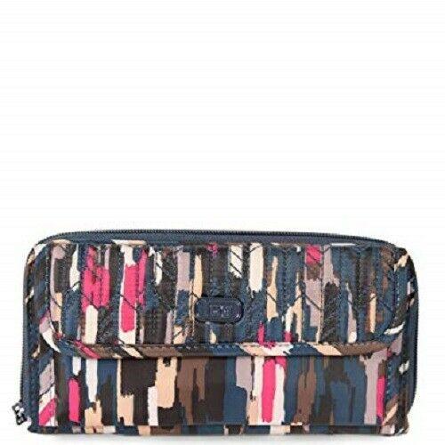New Lug KICK FLIP Travel Wallet Organizer RIVERWALK NAVY Blue Large gift RFID