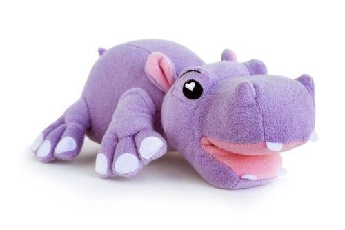 New SoapSox Kids Plush Washcloth Bath Sponge Toy Seen on TV HARPER the HIPPO