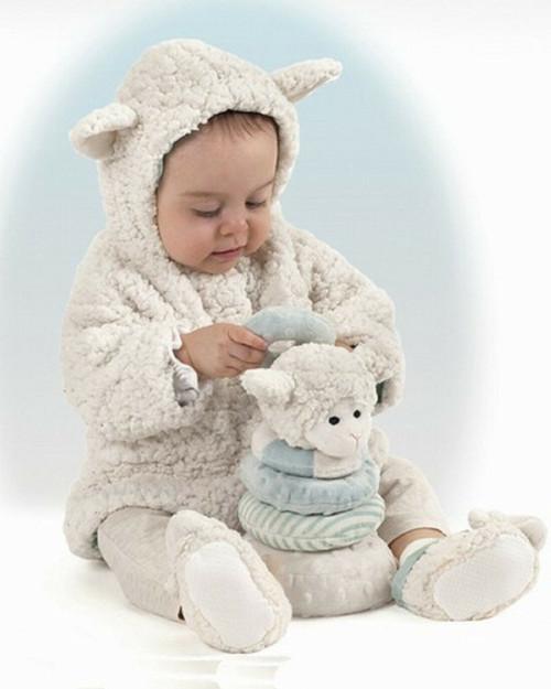 Bearington Baby White LAMBY LAMB COAT w/  EARS 12-24 Mos 1-2 yrs Soft gift