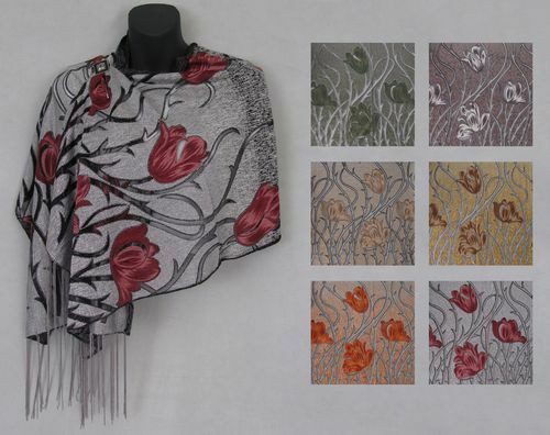 "New Elegant Shawl Scarf Wrap 19"" x 60"" PICK A  COLOR"