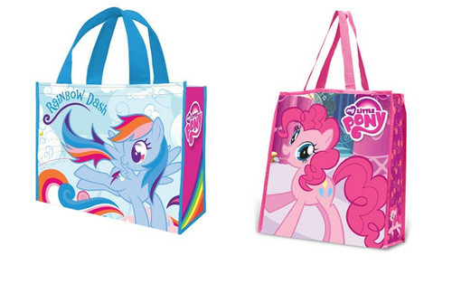 New Vandor My Little Pony 2 Large Shopper Bag Tote PINKIE PIE & RAINBOW DASH