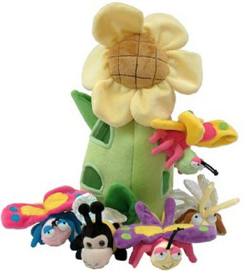 "NEW Unipak 13"" SUN  FLOWER  HOUSE ANIMALS  Plush toy Holiday Christmas gift"