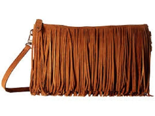 New Handbag Butler Mighty Purse Smart phone Charger  BROWN FRINGE Crossbody gift