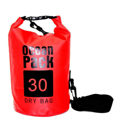 New Ocean Pack Dry Bag Water Proof Backpack Bag  River Beach 30 L RED X-Large