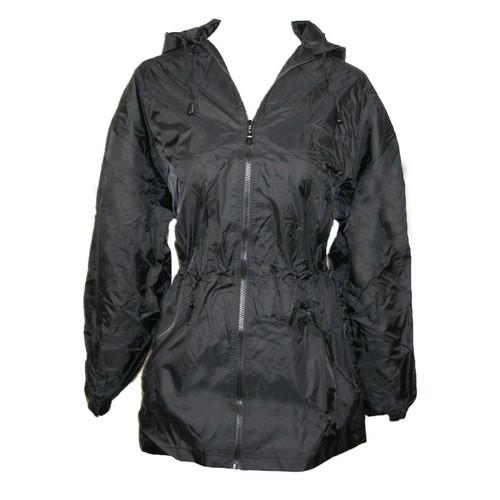 New Shed Rain Packable Anorak BLACK LIghtweight Travel gift Small Medium