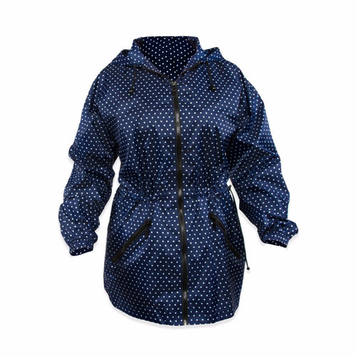 New Shed Rain Packable Anorak BITTY DOT Blue LIghtweight Travel gift Small Med