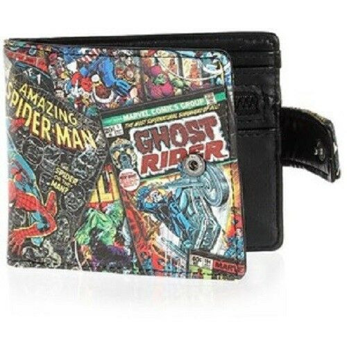 New Wallet MARVEL Superheroes Black Cosplay School Work Comic-con Pleather gift