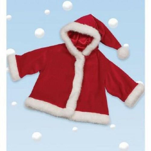 Bearington Baby SANTA CLAUS Holiday  CHRISTMAS Coat 6-12 months Red Soft gift