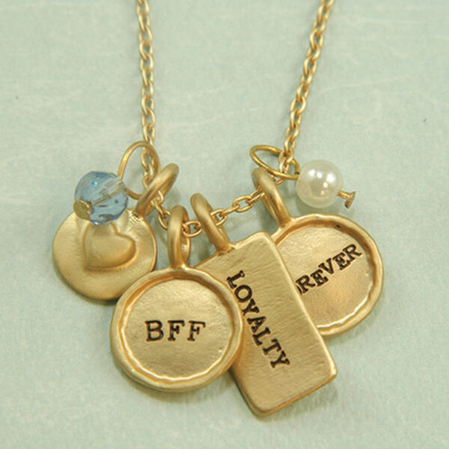 New Lucky FRIENDS CLUSTER Charm Necklace Pendant  Gift BFF Grad Mom gift