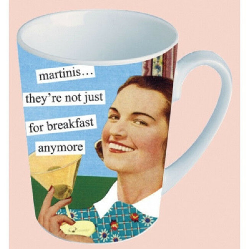 NEW Anne Taintor Porcelain  Mug Cup Retro Sassy Fun Gift - MARTINIS