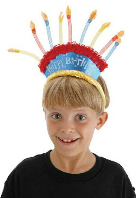 New Elope BIRTHDAY CANDLES Costume Headband Cute gift Multi-colored
