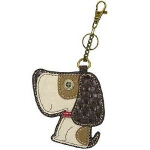 New Chala Purse Bag Charm Clip On Key Ring Fob TOFFY DOG BEAGLE Coin Purse gift