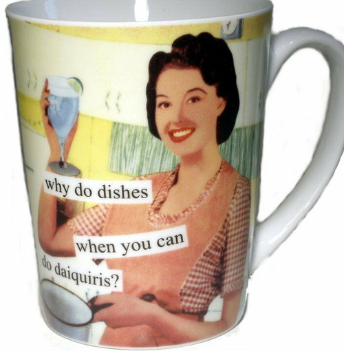 NEW Anne Taintor Ceramic 10 oz Ceramic Mug Cup Funny Retro Fun Gift - DAIQUIRIS