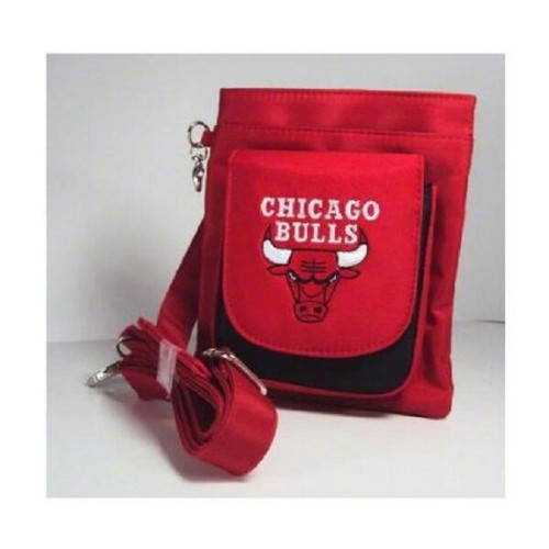 New NBA Travel Hipster & Crossbody Bag Licensed CHICAGO BULLS Embroidered