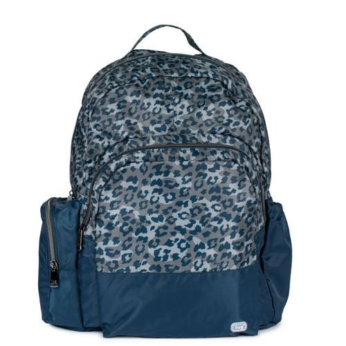 New Lug Travel Echo PACKABLE Backpack School Work Gym LEOPARD NAVY Blue Lightwt