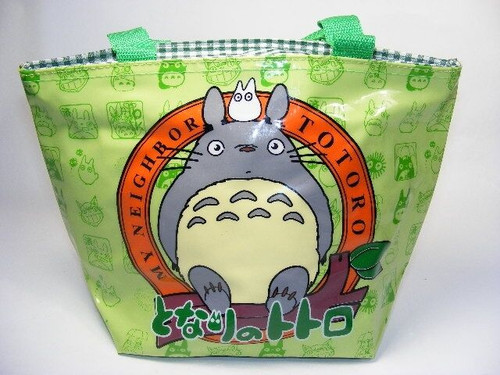 New My Neighbor TOTORO Green Small Zip Tote Lunch Toy Bag Gift Kawaii 60157