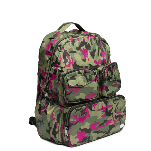 New Lug Travel Puddle Jumper Packable Backpack LIghtweight CAMO ORCHID Pink gift
