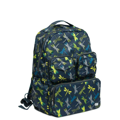 New Lug Travel Puddle Jumper Packable Backpack LIghtweight DRAGONFLY NAVY Blue