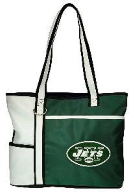 New Gameday Tote Purse Bag NFL Licensed NEW YORK JETS Embroidered Logo gift Gree