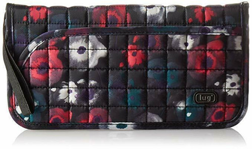 New Lug TANGO Travel Wallet Organizer RFID Passport Holder WATER BLACK Floral
