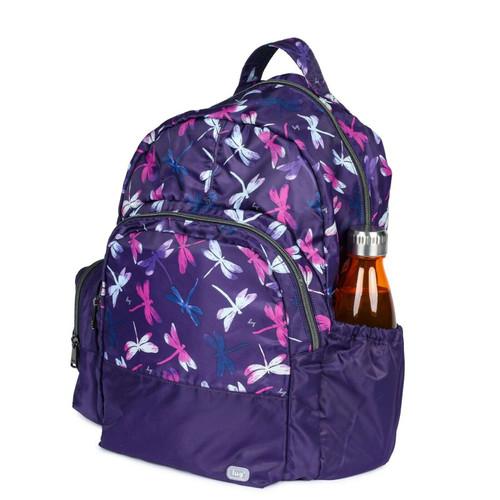 New Lug Travel Echo PACKABLE Backpack School Work Gym DRAGONFLY PURPLE Lightwt