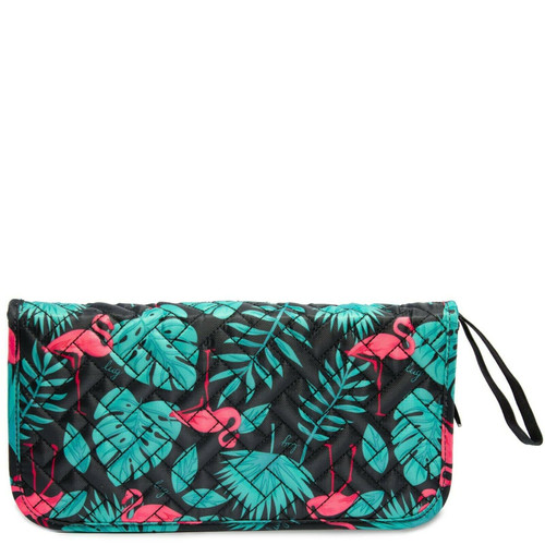 New Lug TANGO Travel Wallet Organizer RFID Passport Holder FLAMINGO BLACK Teal