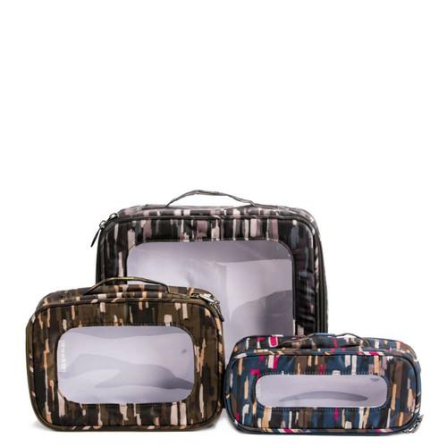 New Lug Travel 3 pc. BENTO BOX Organization Cosmetic Clothing . RIVERWALK Multi