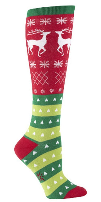New Sock it to Me Knee High Socks Funky Christmas Gift  TACKY HOLIDAY SWEATER