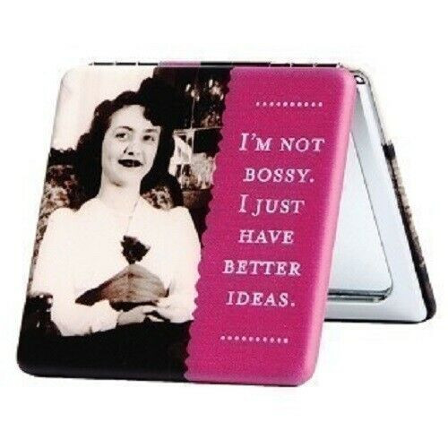 New Shannon Martin Compact Mirror Fun Stocking Stuffer Holiday gift AM NOT BOSSY