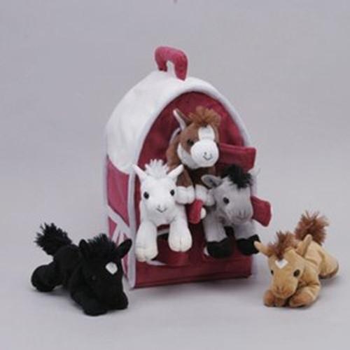"""Unipak Design Plush Toy - 12"""" HORSE HOUSE"""