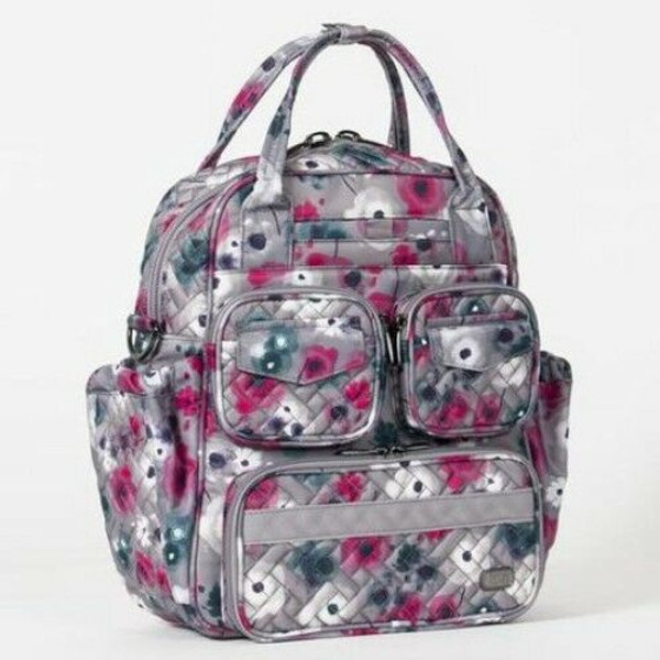New Lug MINI Puddle Jumper Carryall Overnight Gym  Bag WATER  PEARL gift Floral