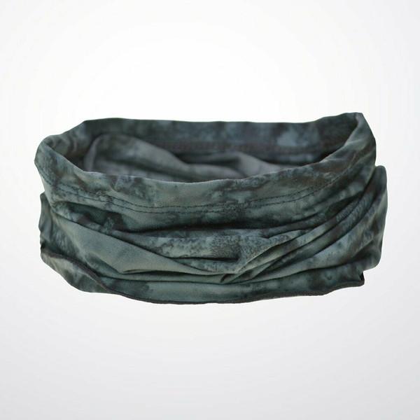 New Wide Headband Wrap Pullover Bandana Wrapsody Chemo Scarf BLACK ONYX MARBLE
