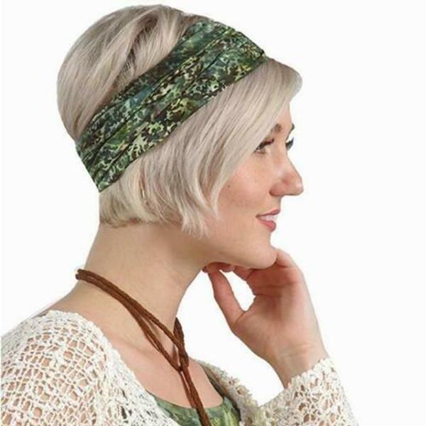 New Wide Headband Wrap Pullover Batik Wrapsody Chemo Scarf SEA CORAL Green