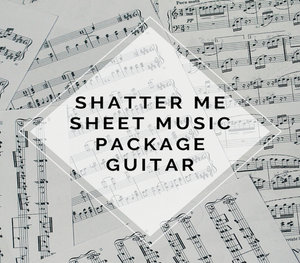 Guitar Shatter Me Album Sheet Music Package