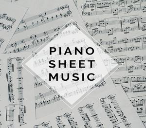 PIANO Gavi's Song Sheet Music