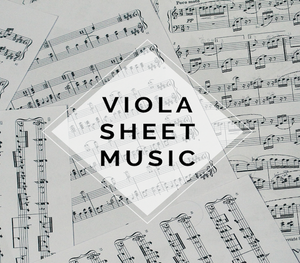 VIOLA I Saw Three Ships Sheet Music w/ KARAOKE