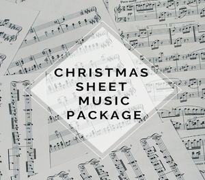 Violin Christmas Sheet Music Package