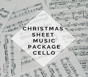 CELLO Christmas Sheet Music Package